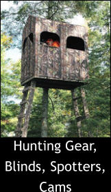 Hunting Gear, Blinds, Spotters, Cams