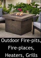 Outdoor Fire-pits, Fire-places, Heaters, Grills