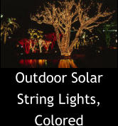 Outdoor Solar String Lights, Colored
