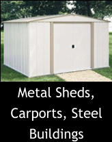 Metal Sheds, Carports, Steel Buildings