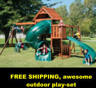 FREE SHIPPING, awesome outdoor play-set