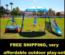 FREE SHIPPING, very affordable outdoor play-set
