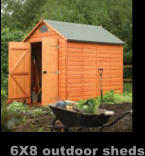 6X8 outdoor sheds