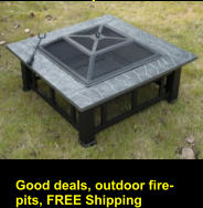 Good deals, outdoor fire-pits, FREE Shipping