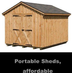 Portable Sheds, affordable