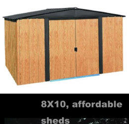 8X10, affordable sheds