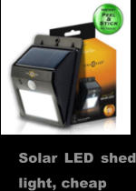 Solar LED shed light, cheap