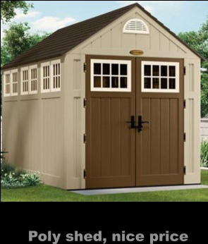 Poly shed, nice price