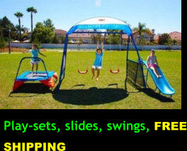 Play-sets, slides, swings, FREE SHIPPING