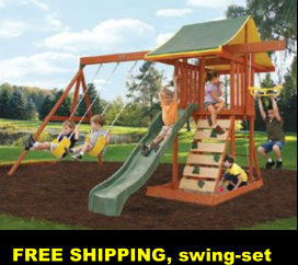 FREE SHIPPING, swing-set