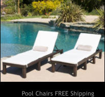 Pool Chairs FREE Shipping